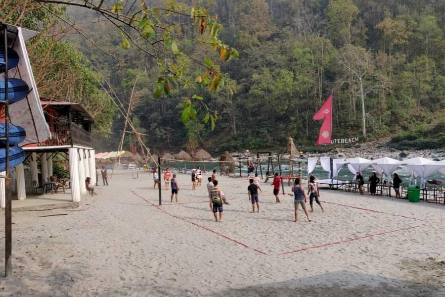 Beach Volleyball at Sukute Beach Resort