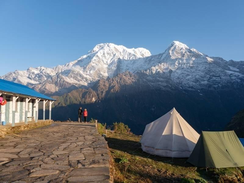 Annapurna South and Hiuchuli from Mardi High Camp