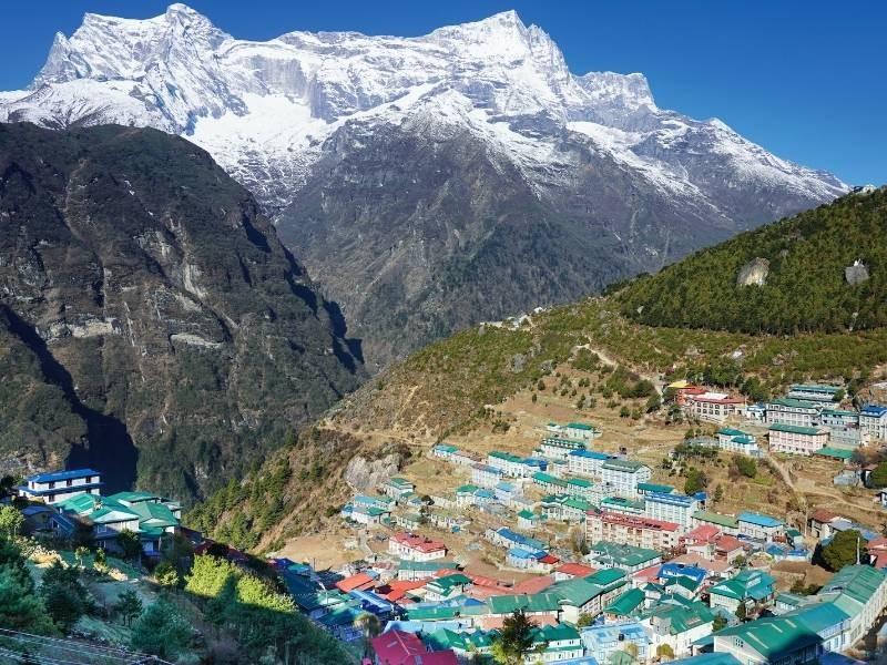 Namche bazar of Everest region